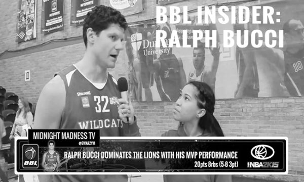 BBL INSIDER: SWARZY MACALY INTERVIEWS RALPH BUCCI (POST GAME)